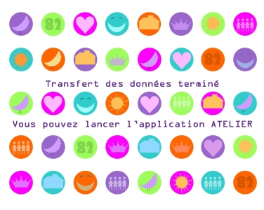 illustration bulles colorées
